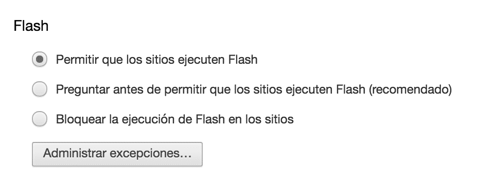 activar flash chrome